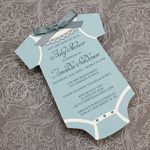 Baby Shower Invitation Template: Boys Onsie