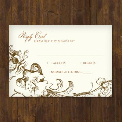online wedding rsvp template
