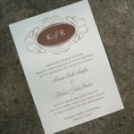 Invitation Template - Monogram Oval