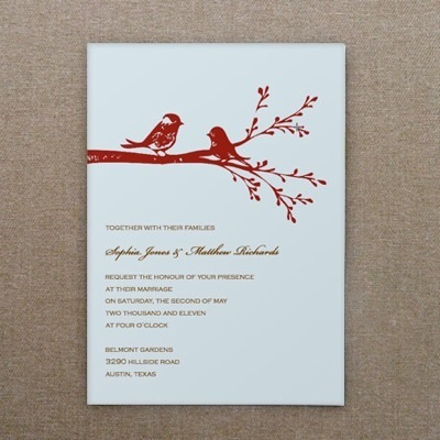 Invitation Template – Lovebirds