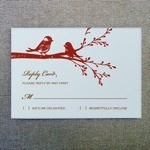 RSVP Template - Lovebirds