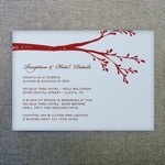 Reception Card Template - Branch Design