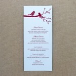 Reception Menu Template - Lovebirds
