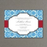 Rococo Wedding Invitation Template
