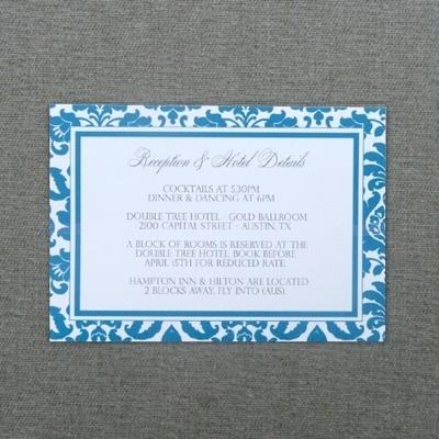 Enclosure Card Template Rococo Design