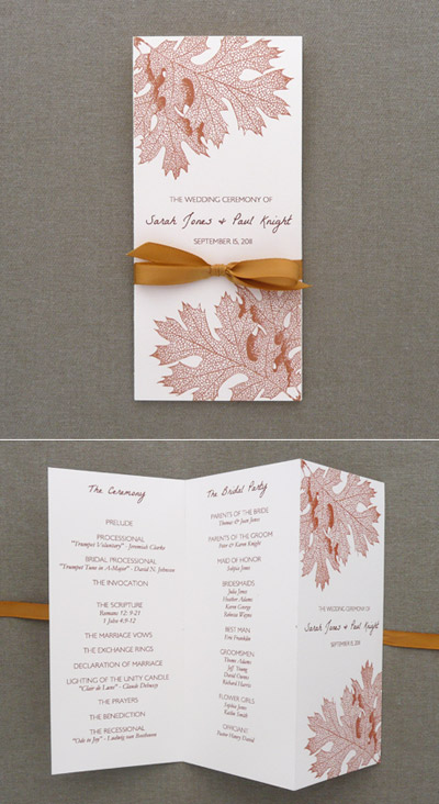 program template tri fold fall leaves download print