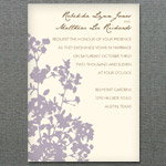 Silhouette Weeds Wedding Invitation Template