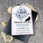 Halloween Invitation Template with Raven Tombstone