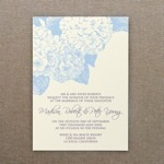 Hydrangea Wedding Invitation Template