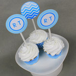 Chevron Printable Cupcake Topper Template