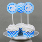 Chevron Printable Cupcake Wrapper Template