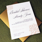 Elegant Lace Bridal Shower Invitation Template
