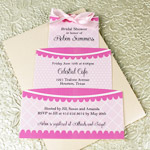 Cut-Out Wedding Cake Invitation Template