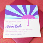 Bridal Shower Umbrella Invitation Template