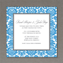Rococo Design Wedding Template for Invitation