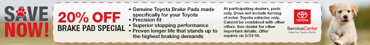 Chicago Pet Month Brake Pad Special