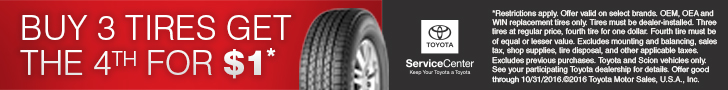 October Tire Savings Event
