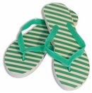 Green Diagonal Stripe Women's Shower Sandal