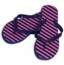 Pink & Purple Diagonal Stripe Women's Shower Sandal