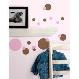 Just Dots Pink & Brown Wall Accents