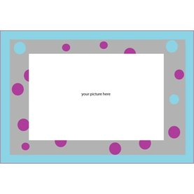Polka Dots Removable Wall Frame