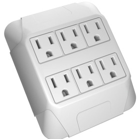 6-Outlet Grounded Wall Tap