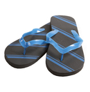 Blue Diagonal Stripe Men's Sandal