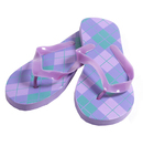 Purple Argyle Women's Sandals