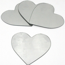 Mini Hearts Peel & Stick Mirrors - 4 pk