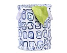 Medium Patterned Pop Open Dorm Hamper, Blue Squares