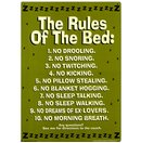 Rules of the Bed Tin Sign