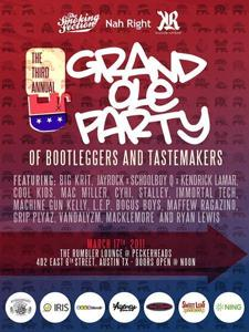 RSVP CLOSED: The Smoking Section, Nah Right & Knuckle Rumbler Present: The Third Annual Grand Ole Party of Bootleggers & Tastema