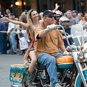 Republic of Texas Biker Rally Motorcycle Parade and Free Concert on Congress Avenue