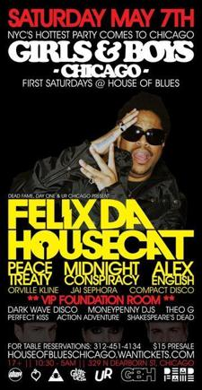 Girls &amp; Boys Chicago: Felix da Housecat + Peacetreaty (Dim Mak)