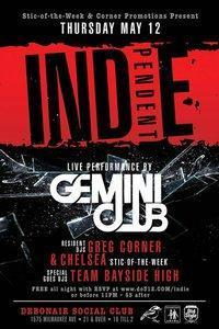 INDIE-PENDENT THURSDAYS with GEMINI CLUB-LIVE