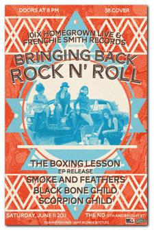 101X Homegrown & Frenchie Smith Records: The Boxing Lesson (EP Release) / Smoke and Feathers / Black Bone Child / Scorpion Child