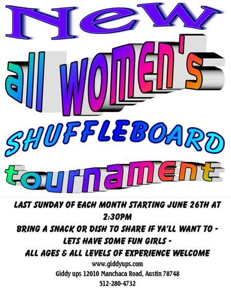 All Women's Shuffleboard Tournament