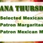 Tijuana Thursday's: $3 Select Mexican Beers, $3 Specialty Shots, $5.50 Patron Margaritas & More!