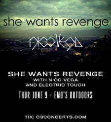 She Wants Revenge  with Nico Vega and Electric Touch