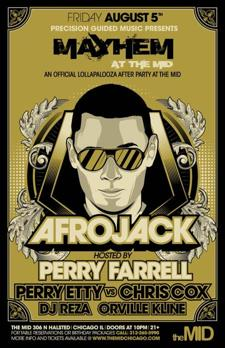 SOLD OUT: Afrojack w/ Perry Farrell