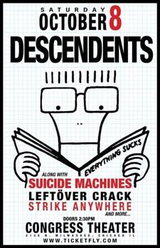 Descendents, Suicide Machines, Leftver Crack, Strike Anywhere, The Flatliners, Flatfoot 56, The Menzingers, Shot Baker, The Co