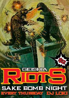 Geisha Riots - $2 Sake Bomb Night