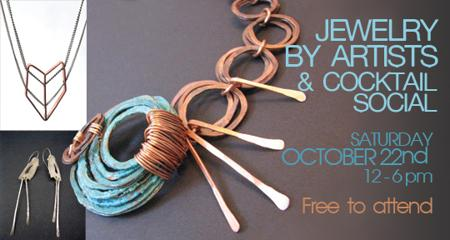 Jewelry by Artists & Cocktail Social at Gallery Black Lagoon - FREE!