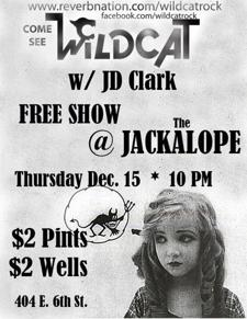 Wildcat FREE SHOW w/ JD Clark $2 Pint Thursdays