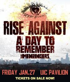 RISE AGAINST&lt;br /&gt;special guests A Day To Remember and The Menzingers