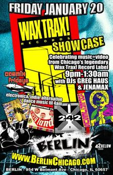 Cosmix Friday presents WAX TRAX! SHOWCASE