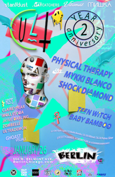 CULT 2 YEAR ANNIVERSARY: PHYSICAL THERAPY, MYKKI BLANCO, SHOCK DIAMOND