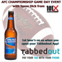 Watch the Game with TabbedOut for a FREE Bud Light and Wings Specials!