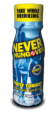 Never Hungover prevents hangovers before they form