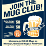 Mug Club Members' Night: $3.50 Mugs